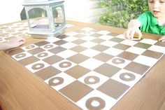 This DIY Outdoor Checkers Game Table is a big enhancement to family game night! There's a secret to it, too. It converts into a mosaic-top patio table once the checkers game is over. Check out the step-by-step tutorial on The Home Depot Blog from Ashley Phipps of Simply Designing.