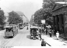 Berlin 1910, Straßenbahnen und Pferdeomnibus in der Leipziger Strasse