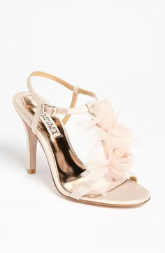 OMG Badgley Mischka Cissy Sandal ON SALE $158 be quick these soft feminine shoes are perfect as bridal shoes and bridesmaid shoes