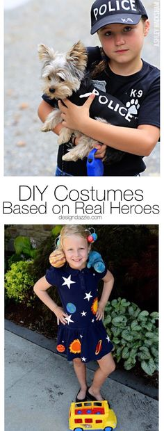 8 DIY costumes you can use this Halloween to honor real life heroes that do the things the rest of us aren't always brave or capable enough to! Creative and thoughtful ideas! || Design Dazzle