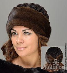 Меховая шапка-бандана с защипами из меха астраган и норки, коричневая – купить или заказать в интернет-магазине на Ярмарке Мастеров | Меховая шапка-бандана с защипами из меха астраган…