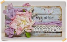 To scrap or not to scrap, that's the question.: Happy Birthday giftcard.