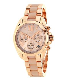 Look at this Michael Kors Rose Gold Bradsaw Chronograph Watch