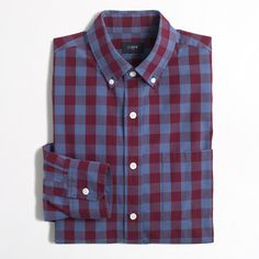 c78d09d8 Factory patterned washed shirt : Gifts for Men | J.Crew Factory Christmas  Buttons,