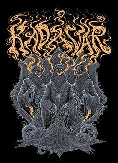 Kadavar poster by Lucas Ruggieri Stoner Rock, Stoner Art, Rock Y Metal, Metal Art, Art Hippie, Cool Poster Designs, Hippie Posters, Metal Albums, Band Posters