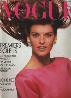 Linda Evangelista for Vogue France 1987