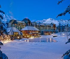 Alaska! This 301-room château-style hotel occupies an enviable location 40 miles south of Anchorage in the Chugach Mountains of Alaska's south-central coast. It's just below a ski mountain with steep terrain and deep snowpack and, in 2012, a revamped high-speed lift.