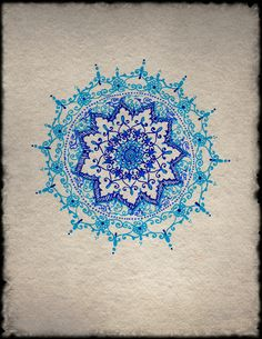 Blue Mandala Art Print by Humna Mustafa | Society6