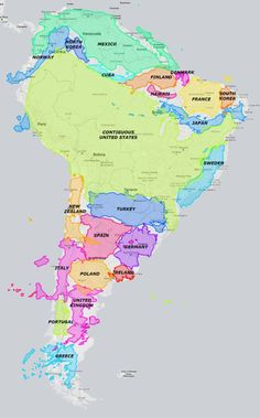 The true size of South America.