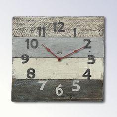 Beach Decor Rustic Clocks Coastal Theme in Grey by Goathopper