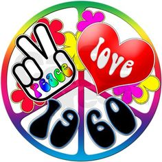 Peace Stickers Product | 1960 gifts 1960 stickers peace love 1960 sticker rectangle