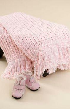 Crochet Sweet Baby Blankie Free Pattern from Red Heart Yarns