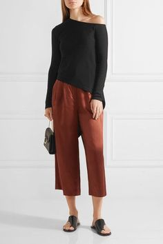 Rosetta Getty | One-shoulder asymmetric cotton top | NET-A-PORTER.COM