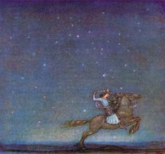 Once upon a time, a young prince went riding out in the moonlight.