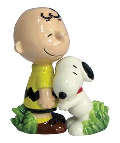 Loving this Snoopy & Charlie Brown Salt & Pepper Shakers on #zulily! #zulilyfinds