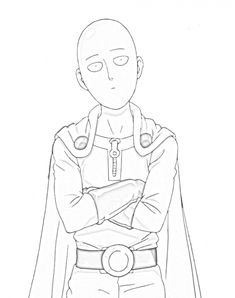 One punch man Saitama looking at Genos coloring pages - Saitama One Punch Man, Saitama Sensei, Hxh Characters, One Punch Man Manga, Man Sketch, Animes Wallpapers, Anime Sketch, Blue Exorcist, Anime One