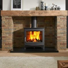 Best Wood Burning Stove, Wood Burning Fires, Wooden Mantelpiece, Slate Hearth, Wood Fuel, Multi Fuel Stove, Stove Fireplace, Wood Stove Chimney, Freestanding Fireplace