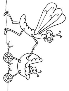 Insects coloring page 15 | INSECTS COLORING BOOK | Pinterest ...