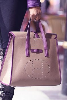 Lilac and neutral Hermes.....Yup!!!! | Raddest Fashion Looks On The Internet: http://www.raddestlooks.net