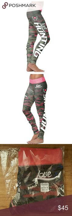 Hunter camo leggings NWT 🔫🔫WKND SALE ONLY NWT love hunting pink camo leggings.  Super cute xl. I HAD THE awhile I Put Under North Face To Get Them Out There Is all...  🚫🚫🚫NO TRADES 🚫🚫🚫  ✔✔ USE OFFER BUTTON DON'T DISCUSS IN COMMENTS ✔✔ North Face Pants Leggings