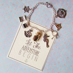 Nautical Charm Bracelet Pirate Queen, Next Gifts, Bracelet Display, And So The Adventure Begins, Handmade Bracelets, Nautical, Charmed, Personalized Items, Silver