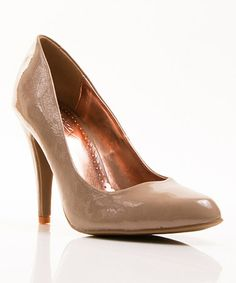 Take a look at this Tan Patent Ashland Pump by Gomax on #zulily today!