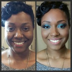 Prom makeup before and after