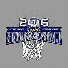 da3b731637e Girl's High School State Basketball T-Shirt Designs- quick turnaround for  state apparel orders