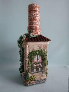 Diy Crafts Slime, Slime Craft, Bottles And Jars, Glass Bottles, Waste Art, Bottle House, Polymer Clay Fairy, Wine Bottle Art, Clay Mugs
