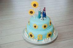 Frost Feber kage - EVA by eva Frozen Fever Cake, Festa Frozen Fever, Frozen Cake, Anna Frozen, Frozen Themed Birthday Party, 4th Birthday Cakes, Frozen Party, Birthday Parties, Birthday Ideas