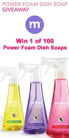 Win 1 of 100 Power Foam Dish Soaps