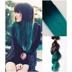 Moresoo 18inch/45cm natural black 1b# to Green  Mermaid/TEAL Schatten Ombre Indian remy Clip in Haarverl?ngerungen human hair extensions 100gram/3.5OZ Moresoo http://www.amazon.de/dp/B00X72YSHY/ref=cm_sw_r_pi_dp_EcUsvb0V6842X If you wanna it, please feel free to contact me .