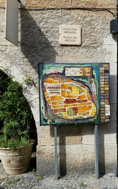 Biot map, Medieval City, French.