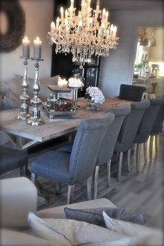 Find inspiration for your dining room lighting design no matter the style or size. Get ideas for chandeliers, drum lights, or a mix of fixtures above your dining table. inspiration for Dining Room Lighting Ideas to add to your own home. Decoration Inspiration, Dining Room Inspiration, Decor Ideas, Decorating Ideas, Design Inspiration, Design Ideas, Design Design, Creative Inspiration, Design Elements