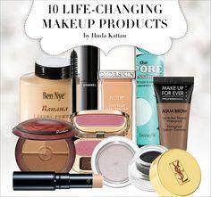 10 Makeup Products ~ Hudda Katan