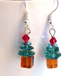 Christmas Tree Earrings 1 Pair @lindab142