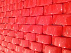 Mini LOOP mosaic Vitrogres in red colour