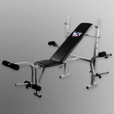 Folding Weight Bench With Weight Rack 3 Backrest Incline Angles Home Gym Bench