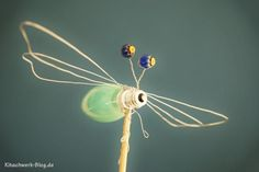 Libelle, Glühlampe, Draht, Perlen, DIY, kostenlose Anleitung, dragonfly, light bulb, pearls, wire, free tutorial, upcycling