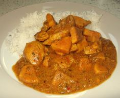 It had been a while since we'd had sweet potato and it was an apparently good choice with chicken, as I'd seen a number of recipes for it in my travels Chicken Sweet Potato Curry, Ginger Chicken, Meat Recipes, Chicken Recipes, Eating Well, No Cook Meals, Poultry, Food Porn, Appetizers