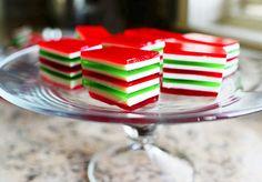 Gelatinas navideñas, ¡de colores!