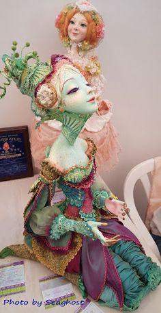 Стильная кукла в тропических условиях. Выставка кукол в Одессе, август 2015