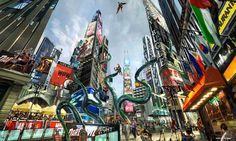 dubai world marvel super heroes theme park
