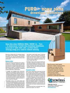PURO - nowoczesne okna drewniano-aluminiowe od Sokółka Okna i Drzwi S.A.