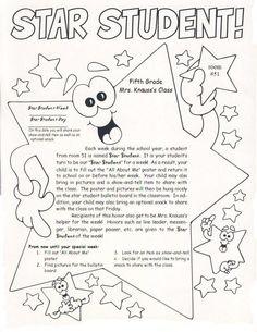 Star Student ideas