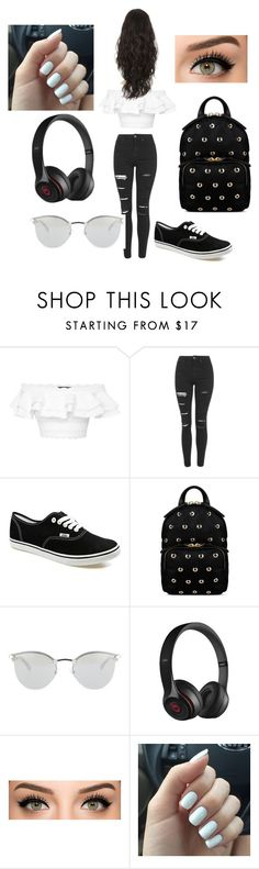 """""""bored af"""" by bruhits-lovefor-fashion on Polyvore featuring Alexander McQueen, Topshop, Vans, RED Valentino, Fendi and Beats by Dr. Dre"""