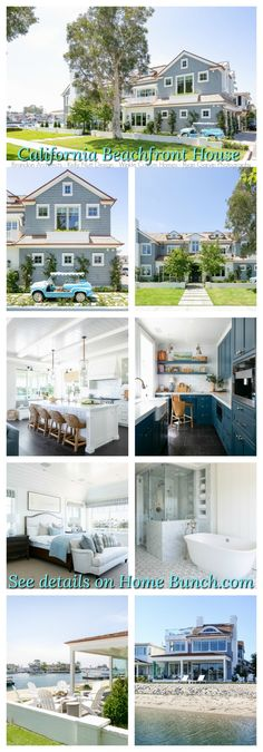 California Beachfront House Cabinet Paint Colors, Door Paint Colors, Countertop, Backsplash, Painted Staircases, Farmhouse Décor, Beachfront House, Pool Cabana, Custom Builders
