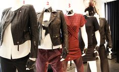 Lagerfeld's vixens in black leather and scarlet apparel