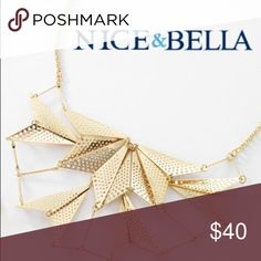 18k Gold Triangular Statement Necklace From Nice&Bella I present you this handmade statement collar necklace. Imported from Guadalajara, Mexico. 18k gold plated 4 times. 1 year manufacturers guarantee. Nice&Bella Jewelry Necklaces