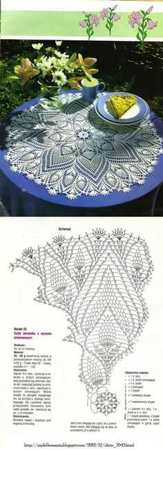 #_SUE Crochet Doily with diagram.: